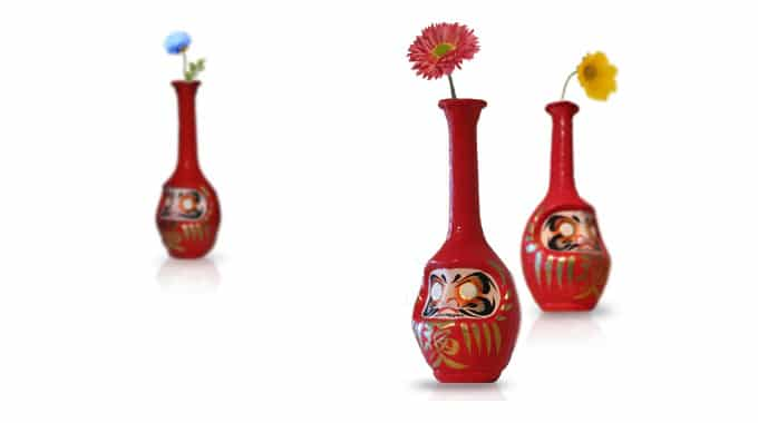 Daruma Doll Flower Vases